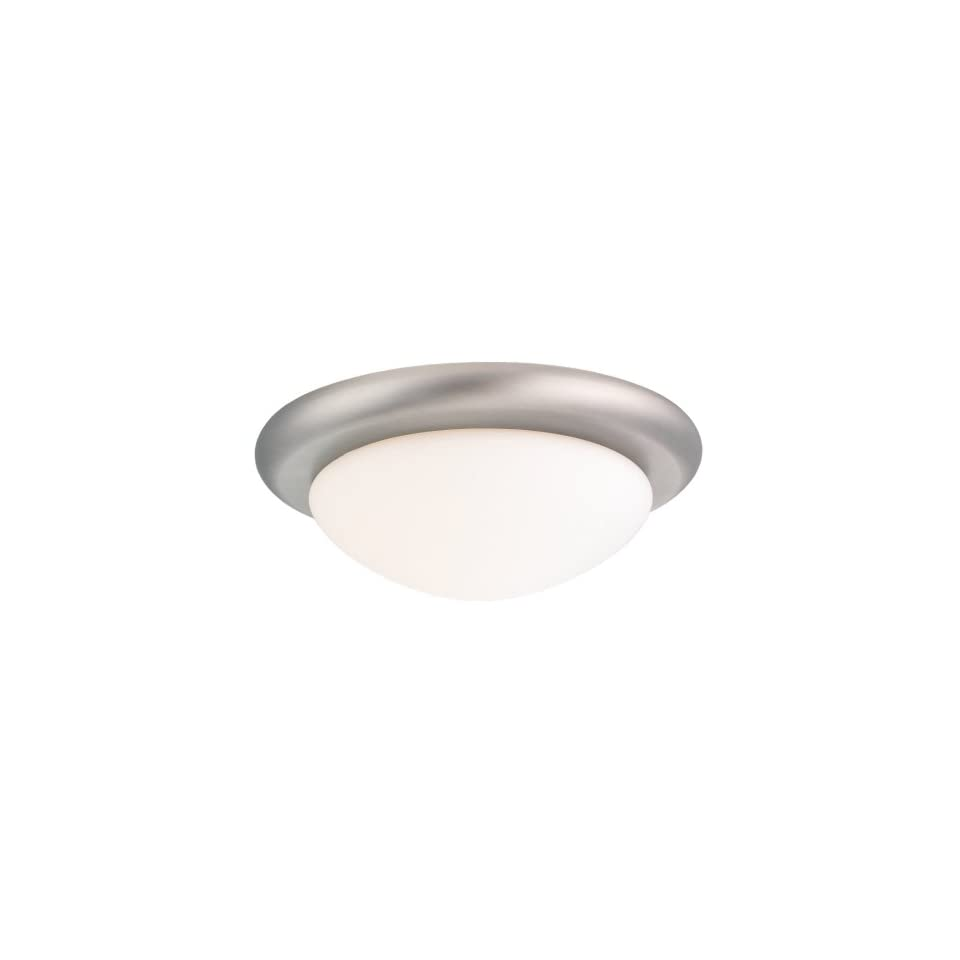 Sea Gull Lighting 16048 965 Ceiling Fan Light Kit with Glass, Antique Brushed Nickel Finish with White Glass