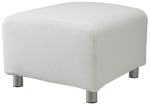 The PU Leather Klippan Loveseat Sofa Cover Replacement is Custom Made for IKEA Klippan Loveseat Sofa Slipcover. (New White Leather Ottoman)