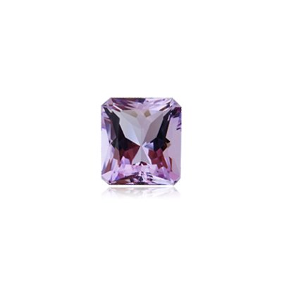 Mysticdrop 1.23-1.42 Cts of 8x6 mm AAA Emerald Cut Radiant Rose De France Amethyst (1 pc) Loose Gemstone