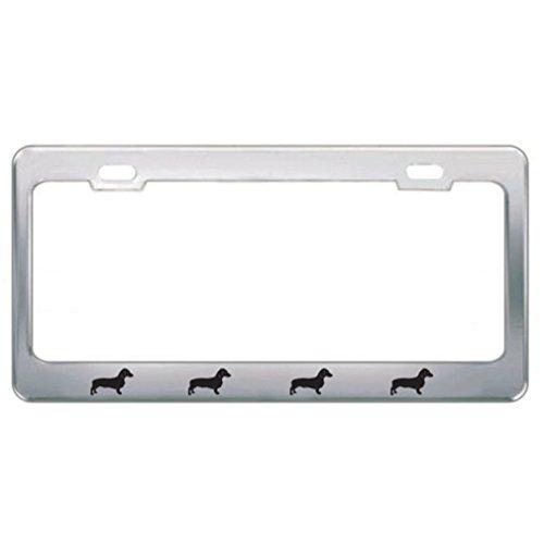 Speedy Pros Hound Dog Pet Dachshund Metal License Plate Frame Tag Border