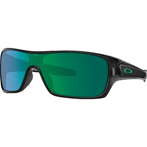 Oakley Men's Turbine Rotor Non-Polarized Iridium Rectangular Sunglasses, Black Ink w/Jade Iridium, 132 - Iridium Polarized Jade