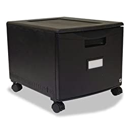 Storex - Single-Drawer Mobile Filing Cabinet 14-3/4W X 18-1/4D X 12-3/4H Black \