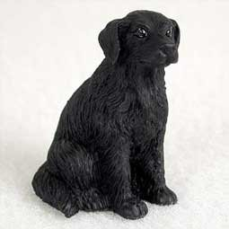 Flat Coated Retriever Miniature Dog Figurine