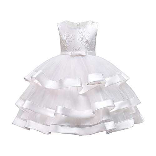 (Kids Dresses for Girls Wedding Party Baby Girls Sleeveless Bow Princess Dress for Age 3 4 5 6 7 8 9 10 Years Kids)