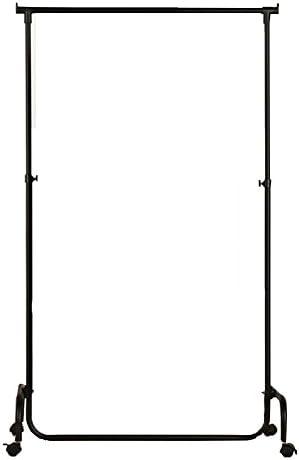 ZEMIN コートラック フロアスタンド コートラック ハンガーラック服 帽子 スタンド ハンガー フック 調節可能な ホイール 可動式 鉄 スムース 有用 (色 : 黒)