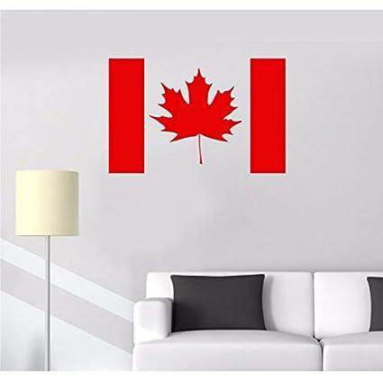 Amazoncom Sssxka Canada Flag Vinyl Wall Stickers Maple
