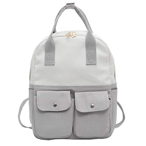 Women Rucksack Shoulder Handbag Bags Canvas Hunzed Black Bag Backpacks Casual Girls Crossbody School K Handbag Travel Women Teenagers qwfISBvx