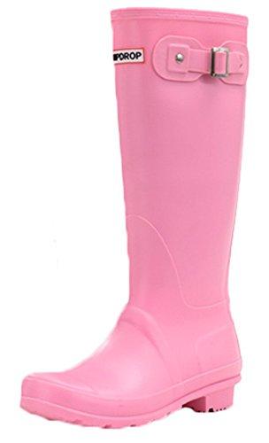 Waterproof Work Womens Shoes Pull on skid Anti Boots Mewow Daily Rain Pink ZE07wqZU