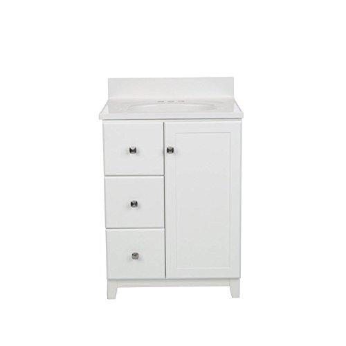 (Design House 612945 Shorewood 1-Door Solid White Cultured Marble Vanity Top,)