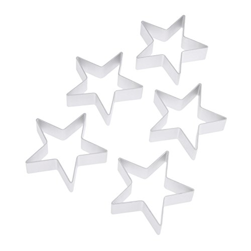 (Aluminium Allony Christmas Star Shaped Cookie Cutter Cake Decorating, DIY Biscuit Tin Baking Mould Tools Mould,Sugarcraft Pastry Baking Cutter Accessory)