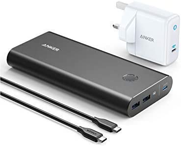 Anker PowerCore+ 26800 PD 45W with 60W PD Charger, Power Delivery Portable Charger Bundle for USB C Laptops, MacBook Air/Pro/Dell XPS/iPad Pro 2018, iPhone 11 Pro / 11 / XS Max/X / 8, and More