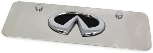 Black Infiniti Emblem Logo Front License Plate Frame Small Mini Stainless Steel