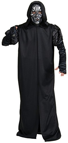 Warlock Costume Evil (Rubie's Costume Co Men's Harry Potter Deathly Hollows Death Eater Adult Costume, Black, One)