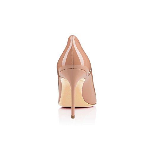 Beige Edefs En Cuir Escarpins Pu Soiree Mariage Classique Verni Chaussures Femme Aiguille Mode Talon ZxrZwOSq