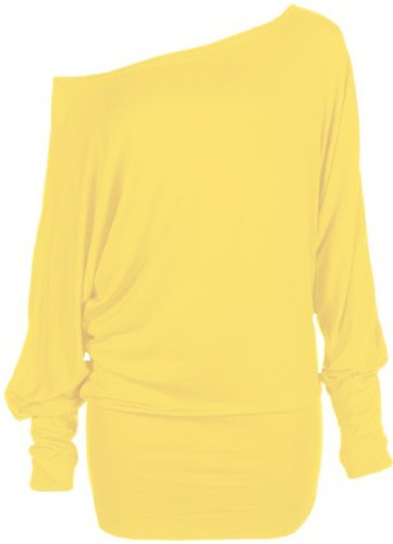 Funky Boutique - Camicia - Basic -  donna giallo X-Large