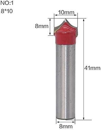 GENERICS LSB-Werkzeuge, 1 stücke 8mm Schaft Fase Schaftfräser Runde Nase Punkt Cut Roundover Bit Shaker Cutter Werkzeuge for Holzbearbeitung (Farbe : NO 1)