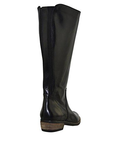 JJ footwear bottes femme en cuir alexandrie xL mollets 40.4 cm x 48.1 cm Schwarz Dream-Nat 7r4CL