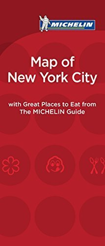 Michelin Map of New York City Great Places to Eat (Map of Great Places to Eat) by Michelin Travel & Lifestyle (2014-12-15)