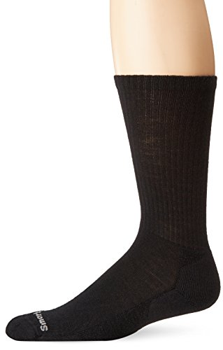 SmartWool Men's Heathered Rib Socks,Black,L