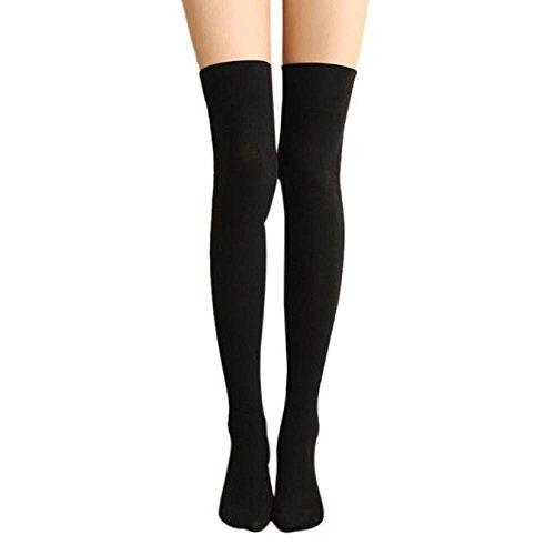 VJGOAL Mujer Otoño e Invierno moda casual Sexy color sólido Muslo Alto Sobre La Rodilla Calcetines Calcetines largos de algodón Calcetines altos(Un tamaño, ...