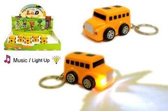 Emergency Button Pocket Door Lock (Keychain Cute Mini Bus LED)