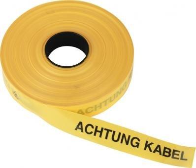 Triuso Trassenband Warnband Trassenwarnband Einlegeband Grabenband Sicherheitsband Sicherungsband 40mm x 250m Achtung Starkstromkabel-gelb