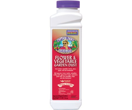Bonide Captin Jack's Dead Bug Flower and Vegetable Garden Dust, Organic Insecticide 1-1/2 Lbs.