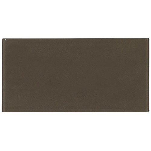 Mosaic Tile Outlet MTO0134 | Contemporary Field Tile Brown Glossy Glass Tile