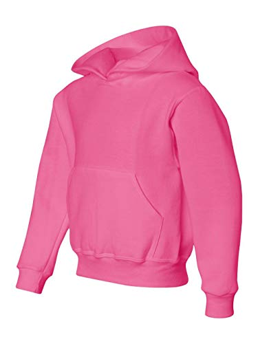 Jerzees NuBlend Youth Hooded Sweatshirt, XL, Neon Pink