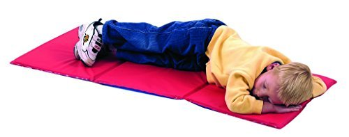 Children's Factory 3 -Section Infection Control Toddler Nap Mat -.75 inches by Children's Factory