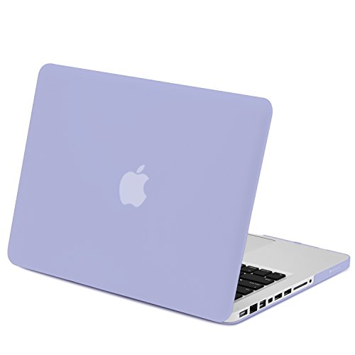 TOP CASE - 2 in 1 Bundle Deal Rubberized Hard Case Cover + Keyboard Cover for Old Macbook Pro 13-inch with CD-ROM / DVD DRIVE
