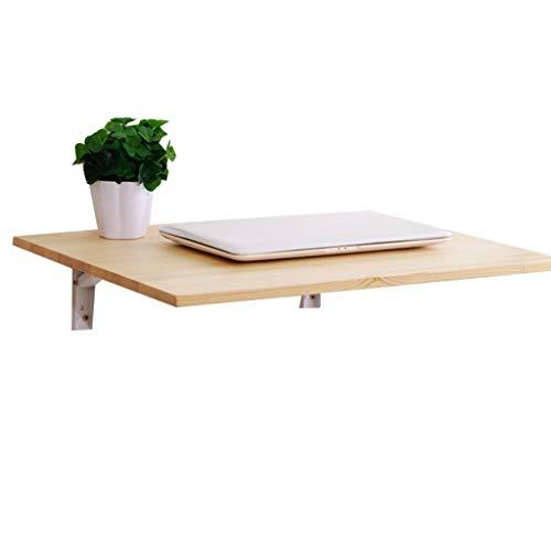 Mesa Plegable de Pared Plegable con 2 Soportes de Metal Cocina de Madera Maciza Comedor Mesa de Estudio Escritorio portatil Plegable para Espacios pequenos Opcional (50x40cm)