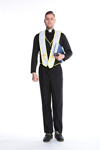 Pengfei Halloween party/priests/pastors/Godfather couples costume 89171/172/173/175/168 , #5 , (Costumes For Halloween For Couples)