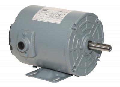 (WEG Electric .7536AS3EAF56Z-S.75HP, 3600 RPM, 3PH, 208V/230V/460V, 56Z Frame, Standard Flange, Foot Mount, TEAO, Aeration Fan)