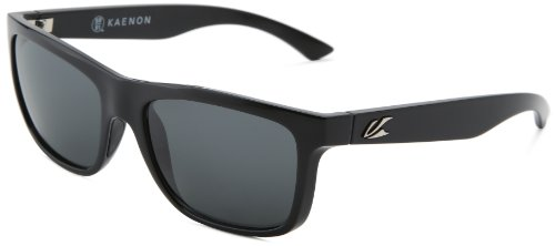 Kaenon Men's Clarke Polarized Rectangular Sunglasses, Black, 56 mm