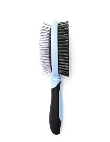DomePet 2-in-1 Dual Pet Brush Comb, Best Quality and Professional Deshedding Tool, Blue