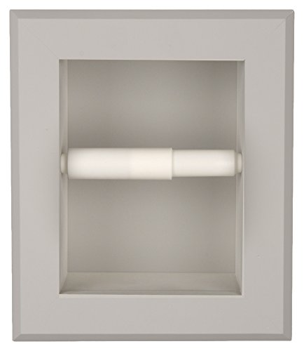WG Wood Products Solid Wood Recessed wall Bathroom Toilet Paper Holder in Multiple Finishes, Primed/Ready To Paint by WG Wood Products (Image #3)