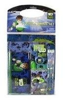 Ben 10 Alien Force Stationery Set - Cartoon Network Ben 10 Stationery Value Set (11 Pieces)