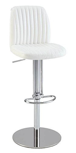 Adjustable Height Bar Stool 0573-AS-WHT