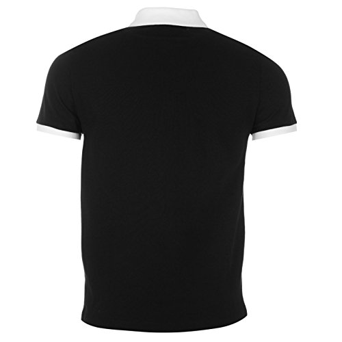 Versace Collection Herren Poloshirt mehrfarbig Black/Whte