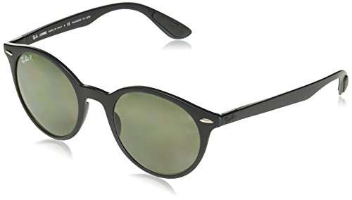 Ray-Ban RB4296 Round Sunglasses, Matte Black/Polarized Green, 50 mm