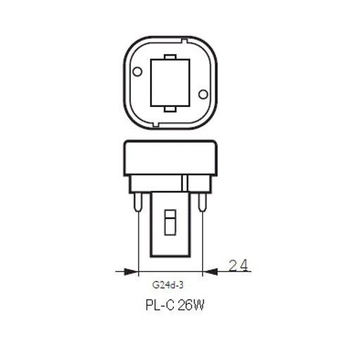 Lighted - Bombilla para downlight pl 2 pin 26w g24d-3 luz blanca día 6400k: Amazon.es: Iluminación