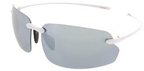 7f99ed5c478e Fiore Island Sol Polarized Sunglasses Rimless TR90 Lightweight for Men and  Women