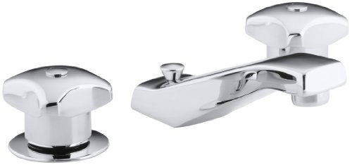 (KOHLER K-7437-2A-CP Triton Widespread Lavatory Faucet, Polished Chrome)