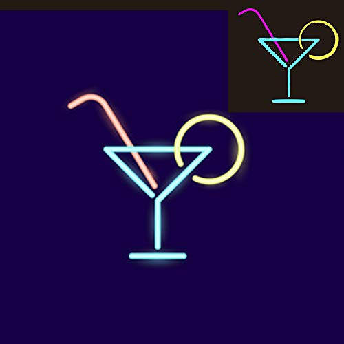 Neon Signs Coffee Martini Cup Neon Sign Cocktail Cup LED Sign LED Neon Light Sign Coffee Bar Beer Pub Coffee Signs for Shops, Hotels, Liquor Stores (Martini Cup -
