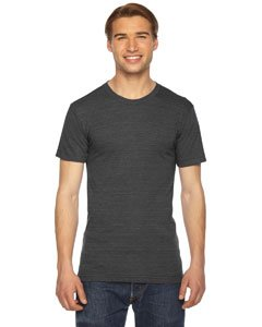 American Apparel TR401W Unisex Triblend Short-Sleeve Track T-Shirt Tri Black M American Apparel Mens Tee