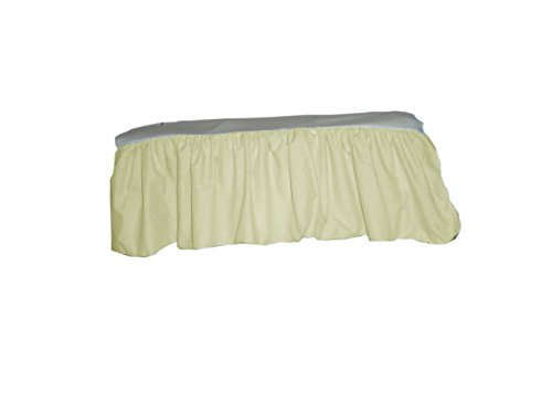 Baby Doll Gingham/Eyelet Patchwork Crib Skirt/Dust Ruffle, Yellow