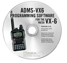 RT Systems Original ADMS-VX6 USB Programming Software (Version 5.00) with USB-57B USB to Extended 4-Conductor Plug Cable for the (Column Usb Cable)