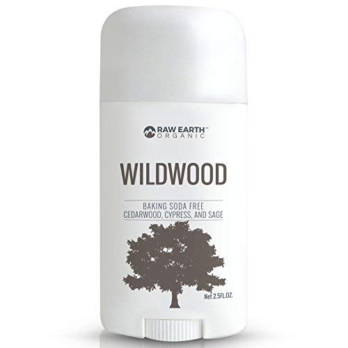 Raw Earth Organic All Natural Vegan Magnesium Deodorant - Baking Soda & Aluminum Free - Cedarwood / Cypress / Sage (2.5oz)