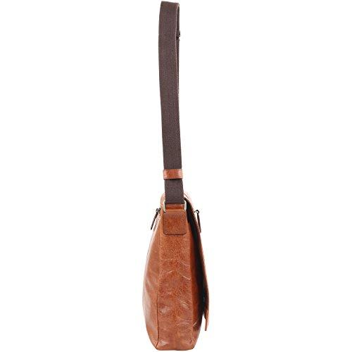 Picard Holy 3 Messenger-Bag vertical 33 cm Cognac (Marrón)